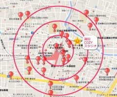 京浜東北線 蒲田 レンタルスタジオ 大田区 蒲田の周辺学校マップ