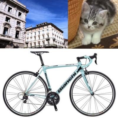 蒲田COZYスタジオはビアンキブルーといいう自転車のイメージがベースになっています。僕の名前は小次郎 COZY のネーミングの元になりました。